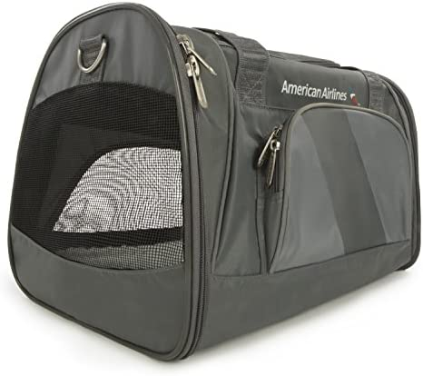 Sherpa American Airlines Duffel Airline Approved Pet Carrier, Charcoal, Medium Frustration Free Packaging