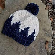 f5110ad81480b Child Knit Hat - Pom Pom Hat - Blue Baby Beanie - Child Bobble Hat - Baby  Ski.