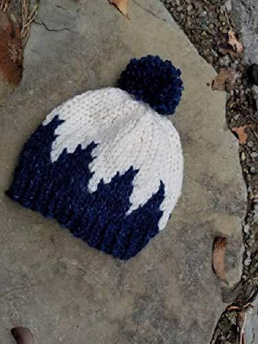 Amazon com: Child Knit Hat - Pom Pom Hat - Blue Baby Beanie - Child