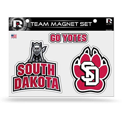 NCAA South Dakota Coyote Bling Team Magnet Set