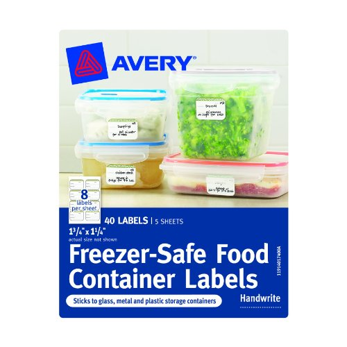 Avery Freezer-Safe Food Container Labels, 1.25 x 1.75