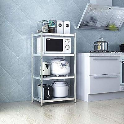 Horno de Microondas del Estante 4-Tier cocina de metal de ...