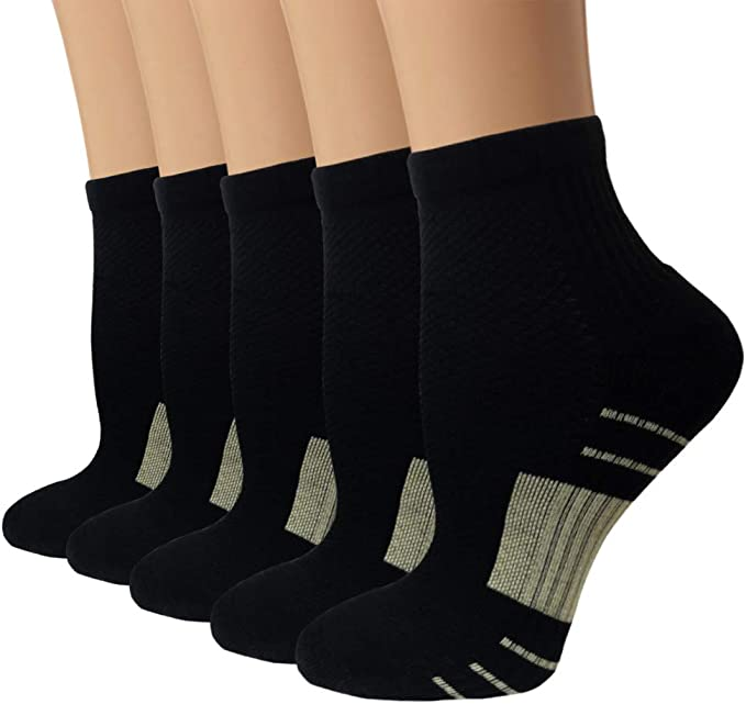 Compression Running Plantar Fasciitis Socks for Men /& Women Medical Low Cut Cushion Socks Fit for Athletic,Travel Sports