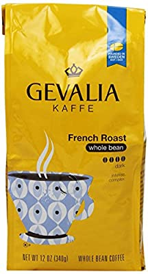 GEVALIA French Roast Coffee, Whole Bean, 12 Ounce