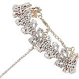 Best Mudder Charm Bracelets - Glamaker Women's Wide Diamond Neck Rhinestone Choker Necklace Review