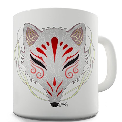 Twisted Envy Kitsune Tribal Mask Ceramic Novelty Mug ()