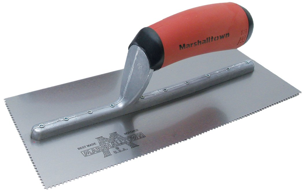Marshalltown 767SD Notched Trowel 1/4 x 1/8 x 1/4-Inch Sq-Durasoft Handle by Marshalltown