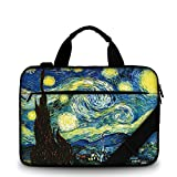 2016 New Canvas Briefcase Handbag Laptop Shoulder Bag Carrying Sleeve Case,One Size Fit for 17'' 17.4'' inch Laptop PC-Starry Night-2