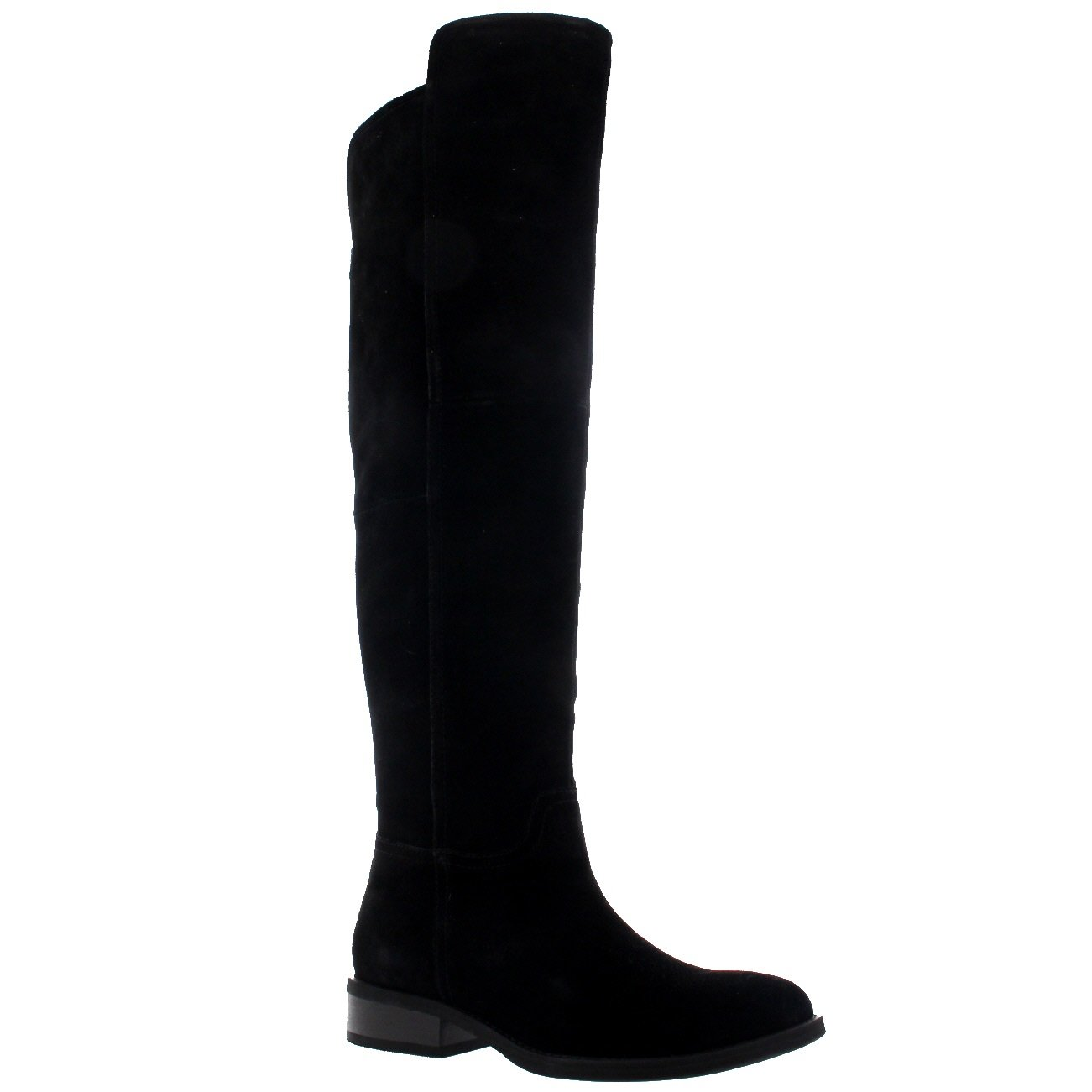 Womens Vagabond Cary Low Heel Black Winter Suede Over The Knee Boots - Black - 7