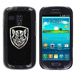 Paccase / SLIM PC / Aliminium Casa Carcasa Funda Case Cover para - Fierce Crest - Samsung Galaxy S3 MINI NOT REGULAR! I8190 I8190N