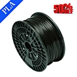CTC Black filament PLA 1.75mm 3D filament PLA, gross weight 1kg High quality and reliable 3D printing filament for 3D printer and 3D pen, better than ABS filament (Black)