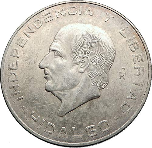 (1956 MX 1956 MEXICO Large SILVER 10 Pesos Coin MEXICAN In coin Good Uncertified)