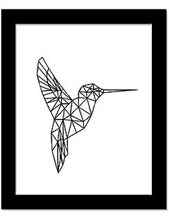 Geometrique Corail Animaux Toile Art Impressions Affiches Cerf Tete