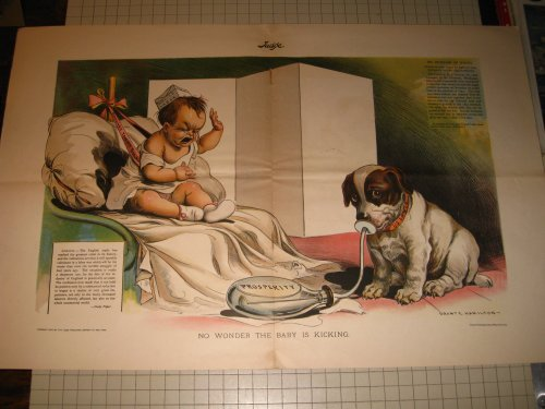 1897 Judge Color Litho:English & U.S.Labor - Wages, used for sale  Delivered anywhere in USA