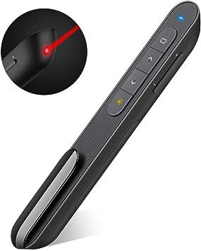 Wireless USB Presentation RF 2.4GHz Remote Presenter//Clicker with Laser Pointer