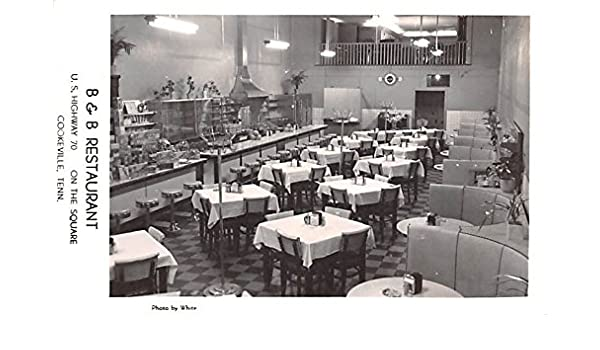 B B Restaurant Cookeville Tennessee Postcard At Amazon S