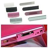 SONY Xperia A SO-04E サイド キャップ カバー (イヤホン + USB ) 互換品 ミニクロス セット (ホワイト)