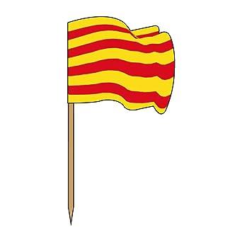 García de Pou 189.73 Banderitas Catalunya, 4 x 2.5 x 6.5 Cm, Set de 144, Multicolor: Amazon.es: Industria, empresas y ciencia