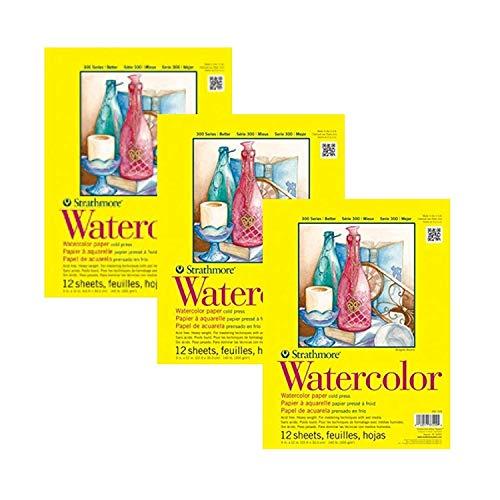 Strathmore 360-111 300 Series Watercolor Pad, 11