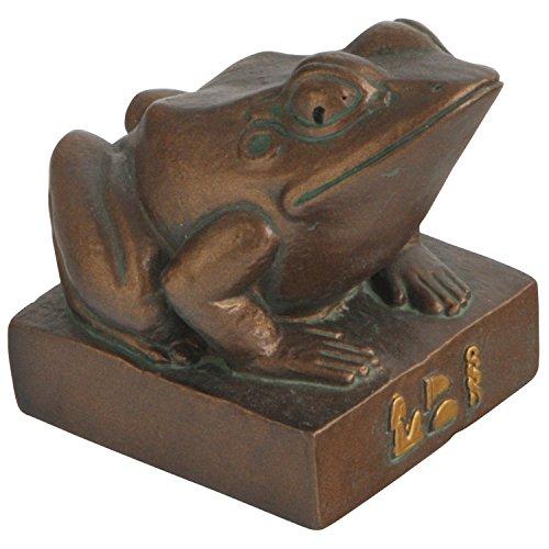 Cast Stone Kek Statue of Egyptian Frog Goddess, (Ancient Egyptian Statue)
