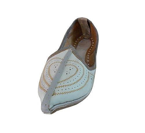 kalra Creations Hombre tradicional indio piel zapatos de Casual: Amazon.es: Zapatos y complementos
