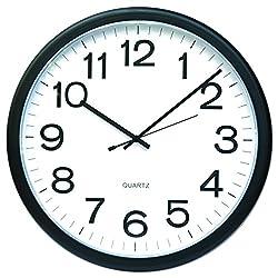 Universal Round Wall Clock, Black, 12 (11641)