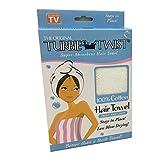 Turbie Twist Super-Absorbent Hair Towel (White) [Health and Beauty]