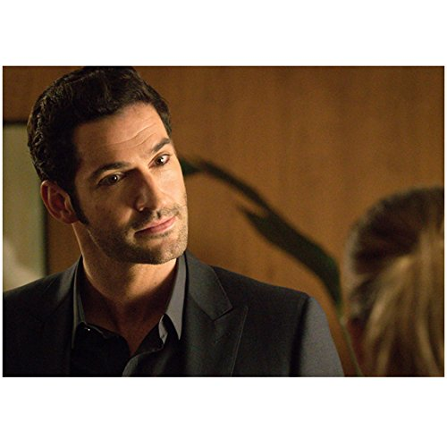- Lucifer (TV Series 2015 - ) 8 inch by 10 inch PHOTOGRAPH Tom Ellis from Shoulders Up Head Tilted Right Looking at Lauren German kn