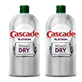2 PACK - CASCADE Platinum Rinse Aid, Power Dry, 16.0 FL OZ, 155 Loads, Number One Recommended Brand in North America