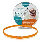 Slicemall Flea Ticks Collar 24 inches, herbal repellent protection treatment for small large dogs