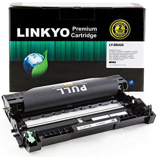 LINKYO Replacement Drum Unit for Brother DR420 (Black) Black Drum Unit Cartridge