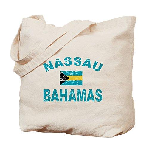 CafePress Nassau Bahamas Designs Natural Canvas Tote Bag, Cloth Shopping Bag (Nassau Natural)