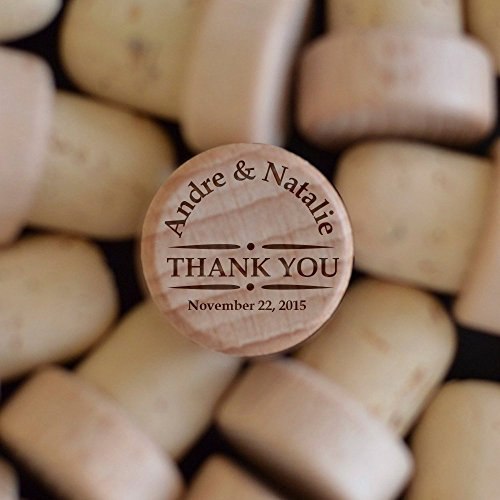 Customized Wine Stopper SET OF 5 By Froolu Custom Wine Stopper - Engraved Wood Wine Stopper - Wedding Favor - Wine Weddi (1605 Wine)