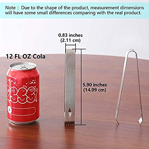 Ice Tongs, Newness Stainless Steel Ice Tongs, 5.9 Inches (15 cm)