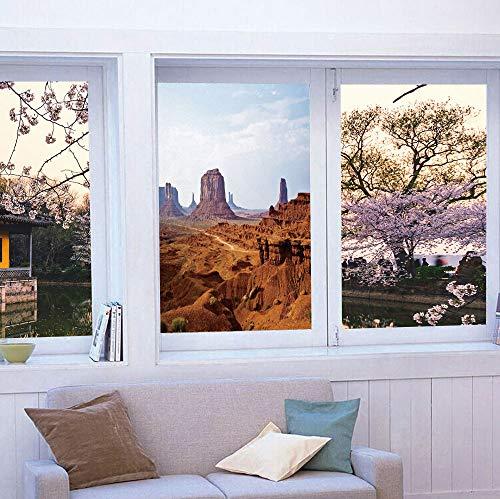 YOLIYANA Vinyl Window Film,Desert,Work Well in The Bathroom,Monument Valley View from John Fords Point Merritt,24''x36'' (Merritt Bathroom Light)
