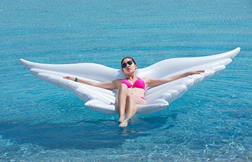HLZDH Flotador inflable de la mariposa del ala del ángel con la fiesta Gigante Flotador Inflable Balsa Cama Flotante de la piscina al aire libre de verano ...