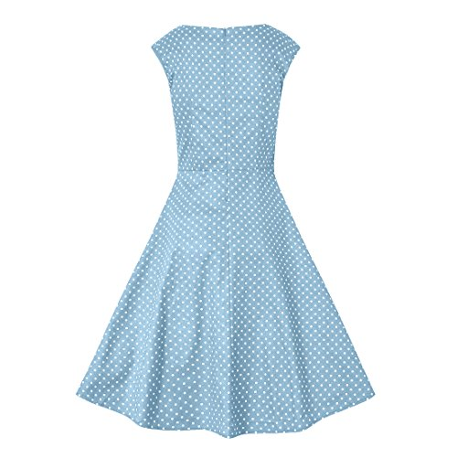 DISSA L Damen Retro Grau M1133 50er 40 Rockabilly Kleid Vintage EU Cocktail rr6gwRU