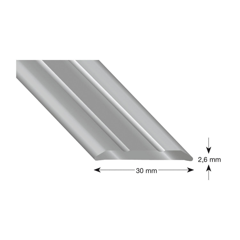 1/pieza k/ügele/ 301/S 100 /Perfil Aluminio Plata anodizado 30//1000/mm