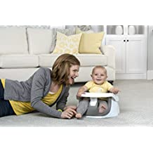 Regalo Grow with Me Floor Seat and Activity Chair with Removable Feeding Tray, Cool Grey
