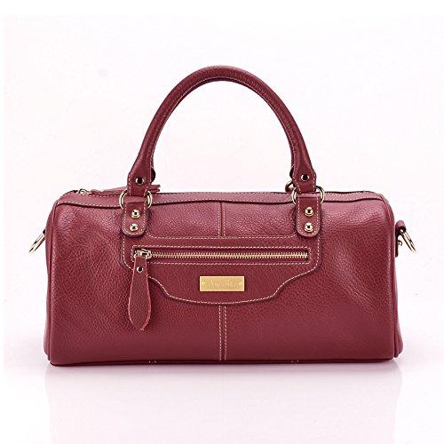 Aretha Women Pillow Genuine Cow Leather Baguette Satchel Handbag