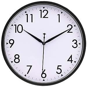 Rhythm Luminous Modern Plastic Gold Silent Wall Clock |Silent Wall Clock