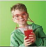 Denshine® Crazy Funky Drinking Straw Glasses Novelty Tube Joke Fun Children Party (Clear)