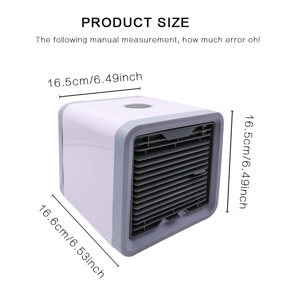 DiiZii Personal Space Air Cooler, 3 in 1 USB Mini Portable Air Conditioner, Humidifier, Purifier 7 Colors Nightstand, Desktop Cooling Fan Office Home Outdoor Travel by DiiZii (Image #6)