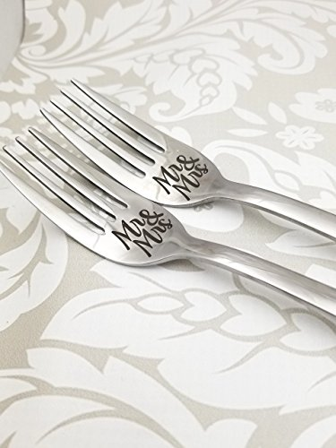 - Stainless Steel Mr. & Mrs. Wedding Fork Set Standard dinner sized 7.25