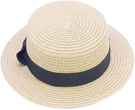 VIVICMW Childrens Summer Sun Hat Beach Hat Straw Hats Girls Kids Sun Hats Summer Beach Hats Straw Woven Outdoor Activities