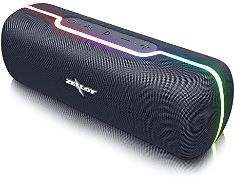Bluetooth Speaker Transportable,Zealot S55,Wi-fi Speaker with Subwoofer 20W, Waterproof IPX5,Twin Driver with Microphone,TWS Pairing, Loud Stereo Wealthy Bass, Lengthy Playtime for House Occasion/Exercise –Black