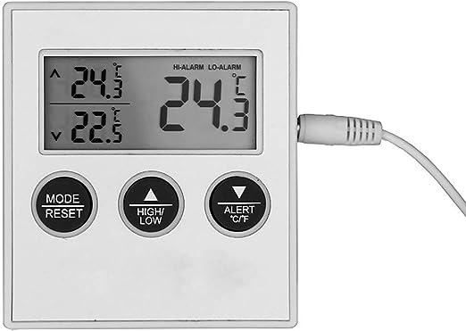 Termómetro digital para frigorífico y congelador, pantalla LCD, °C ...