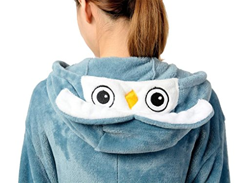 Unisex Adult Owl Onesies Animal Pajamas Costume L (Plus Size Squirrel Costume)