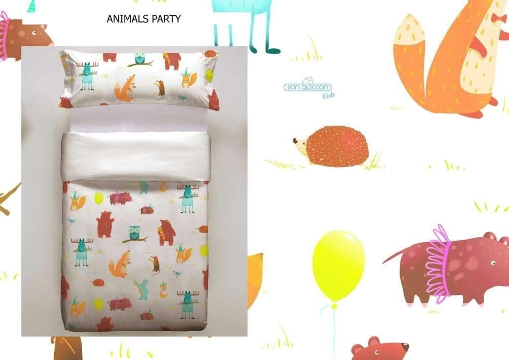 Don Algodon Kids.- Conjunto de funda nordica y almohada Animals ...