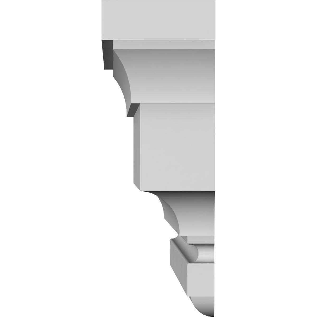 Ekena Millwork CRH07X27ST 27 Bottom 30 3//4 Top Width x 7 1//8 H x 5//8 P Standard Crosshead Factory Primed White Width Width